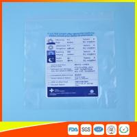 Quality Reclosable Plastic Ziplock Pill Bags Self Seal , Clear Resealable Poly Bags for sale