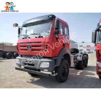 China 6 Cylinder Radial Tire 380HP 280Kw Tractor Head Trucks on sale
