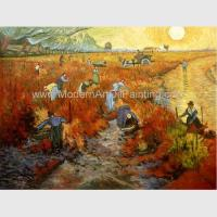 China Impressionism Hand Painted Van Gogh Reproductions Red Vineyards At Arles on sale