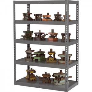 Quality Medium Gray Portable Storage Shelving Racks Garage Storage Units Anti Rust for sale