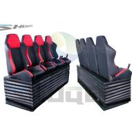 Quality Hydraulic / Pneumatic / Electromotive Control System 4D / 5D / 7D Motion Theater Chair for sale