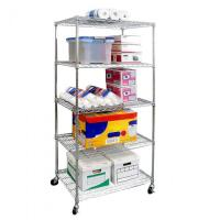 Quality Five Tier Commercial Wire Shelving Unit Metal Shelf Rack Large Capacity for sale