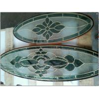 Quality cheap price brass caming decorative glass for wooden door made in China for sale