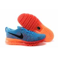Buy cheap Tradingspring.cn  Nike Flyknit Air Max Sky Blue Orange Mens Shoes from wholesalers