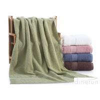 Dobby Border Terry 100% Cotton Bath Towels Set For Bathroom 400gsm