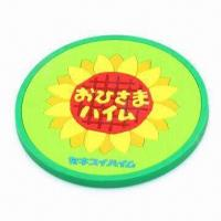 Quality Cup Pad, Made of Soft PVC, Eco-friendly, ODM and OEM Orders with 2 or 3D Logos Welcomed for sale