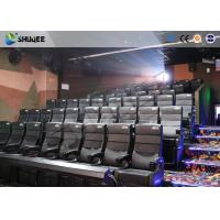 Quality Amusement Park 4D Movie Theater With Electric System / 4D Cinema Chairs for sale