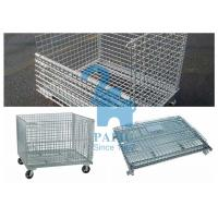 Quality Custom Wire Mesh Storage Boxes Wire Mesh Pallet Cages With Lage Volume for sale