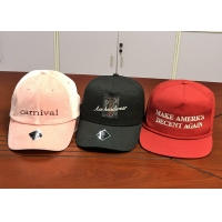 Quality Wholesale cotton twill make America great again red custom logo color baseball hats caps for sale