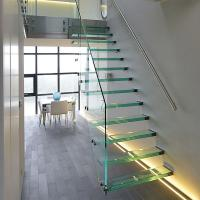 Buy cheap Simple Style tempered glass Floating Stair toughened glass staircase hot sale from wholesalers