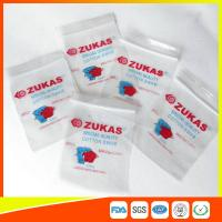 Quality LDPE Clear Plastic Bags With Zipper Reclosable For Medical Cotton Swab Storage for sale