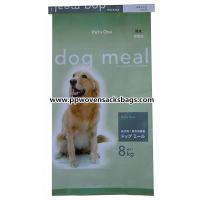 Quality PP Woven Laminated Animal Feed Bags , Recycled Dog Feeds Packing Bags Eco-friendly for sale
