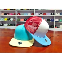 Quality Hot sales high quality mix color blank custom private labels 6panel flat bill snapback hats caps for sale