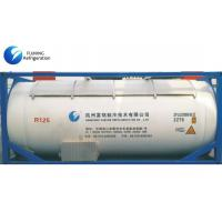 Quality SGS CF3CHF2 R125 AC Refrigerant Gas Bulk ISO Tank For Industrial Refrigeration for sale