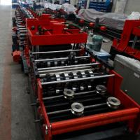 Quality 15KW Z & C Purlin Roll Forming Machine With Hydraulic / Manual Decoiler And PLC Control Line for sale