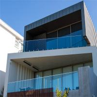 Buy cheap Antirust outdoor metal railing with tempered glass and stainless steel from wholesalers