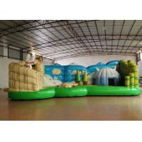 Quality Full Digital Printing Cartoon Kids Inflatable Bounce House Waterproof 8.615 X 4m for sale