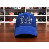 Quality Hot Sales ACE Unisex 5 panels Blue Silk Print Logo With Flat Embroidery Logo on Left Panels Baseball Cap for sale