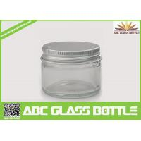 Quality High quality clear glass jar with metal lid wholesale for sale