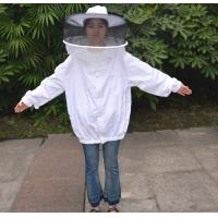 Quality Round Veil White Bee Jacket with Round Hat of Beekeeping Protective Clothing for sale