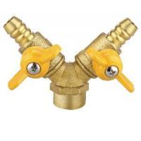 Quality Double-Fork Female Thread Brass Gas Valve (SS9010) for sale