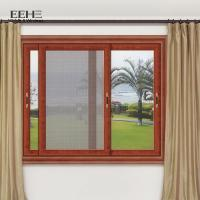 Quality Horizontal Double Aluminum Sliding Glass Windows PVDF Coated Profile Surface for sale