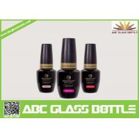 Quality wholesale  new design fancy hot selling good quality lacquer black color nail gel polish glass bottle with cap and brush for sale