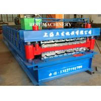Buy Color Trapezoidal IBR Steel Roof Roll Forming Machine Hydraulic Cutting Device at wholesale prices