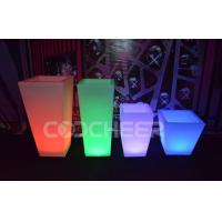 Quality Remote Control Illuminated Led Lighted Flower Pots / Flower Planter Luxury for sale