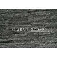 Quality Black Galaxy Slate Cultured Stone Panels For Interior Exterior Wall Cladding for sale
