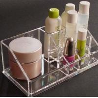 Quality Clear acrylic cosmetic display / acrylic makeup display with Grid for sale