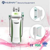 Quality 5 handles fat reduction / skin whitening cryolipolysis slimming multifunction machine for sale