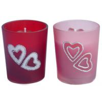China Hand-painted Glass Votive Candle Holders on sale