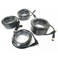 Quality 4 Pin Vehicle Monitor Aviation Cable , Video / Audio Cctv Camera Cable for sale