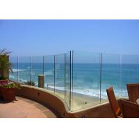 China Seaside Outdoor Glass Panel Railings , Toughened Glass Deck Railing 12mm on sale