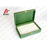 Quality Inside & Outside Green Printed Recycled Paper Gift Box With Fabric Classic Design for sale