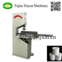 Quality Low price semi automatic toilet paper and kitchen towel paper band saw cutting machine for sale