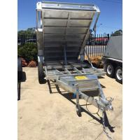 China 5 Stage Ram 5 Ton 10x5 Galvanised Tandem Tipper Trailers 3200KG on sale