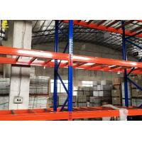 China Narrow Aisle Warehouse Pallet Racking Of Blue Colour Columns With Customized Sizes on sale