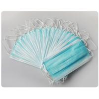 Buy cheap Blue Earloop Pleated 3 Ply Medical Procedure Disposable Surgical Mask from wholesalers