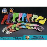 Casino Printable Acrylic Ultimate Poker Chips Jeton Diameter 81 * 56 / 94 * 66mm for sale