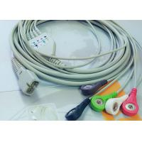 Quality MEK 6 Pin Patient Monitor Accessories One Piece ECG Cable 5 Leads for sale