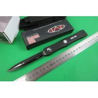 Quality Microtech knife S30 double blade (black) for sale