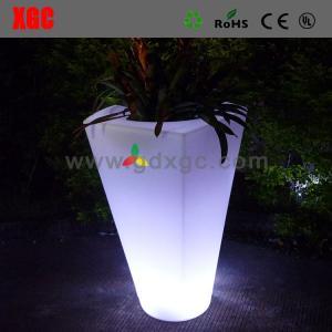 Quality Garden plastic led flower pot light up plant pots for sale