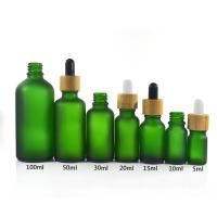 Buy Green Color Essential Oil Glass Bottles , 1 oz 2 oz 4 oz Boston Round Glass at wholesale prices