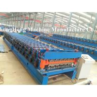 China Two models roofing sheet roll forming machine with speed 10-15 m /min on sale