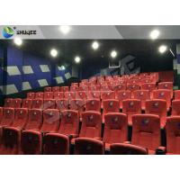 Quality New Design 4D Movie Theater Red Chairs Pneumatic System / Hydraulic System for sale