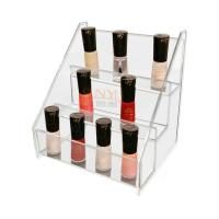Quality Clear 3 Tier Acrylic Nail Polish Table Rack Display Counter Stand for sale