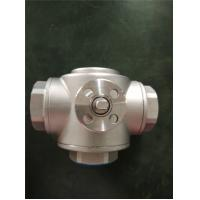 HVAC Use 2 Way And 3 Way Female Gas Ball Valve , Mini Brass Ball Valve for sale