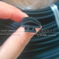 China Flocked Glass Run Channel EPDM Rubber Seal on sale